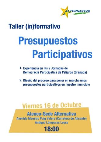 taller presupuestos participativos